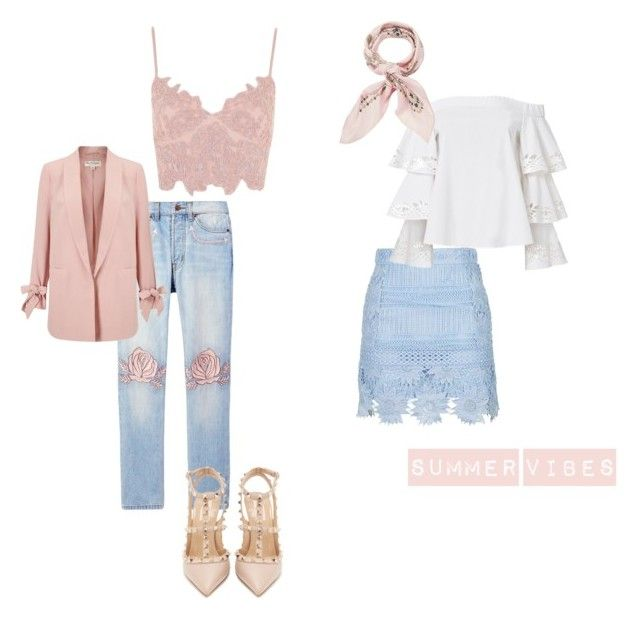 """""""Summer Vibes"""" by paula-wallin on Polyvore featuring Bliss and Mischief, Topshop, Exclusive for Intermix, Manipuri, Miss Selfridge and Valentino"""