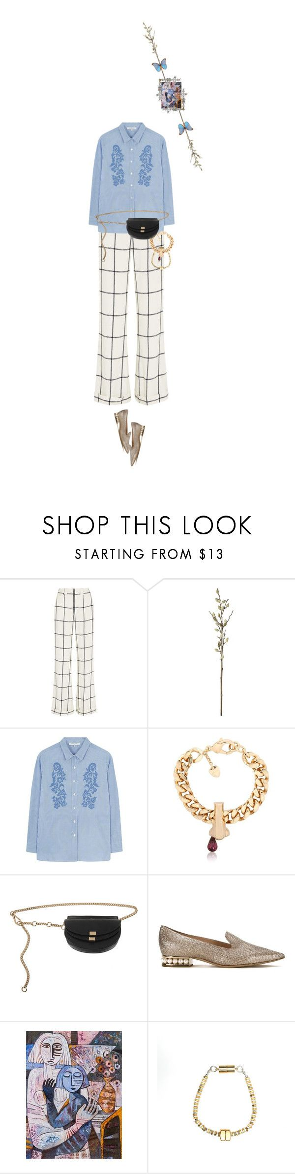 """Untitled #1728"" by maja-z-94 ❤ liked on Polyvore featuring Chloé, CB2, Gérard Darel, Schield Collection, Nicholas Kirkwood, NOVICA and Alice Menter"