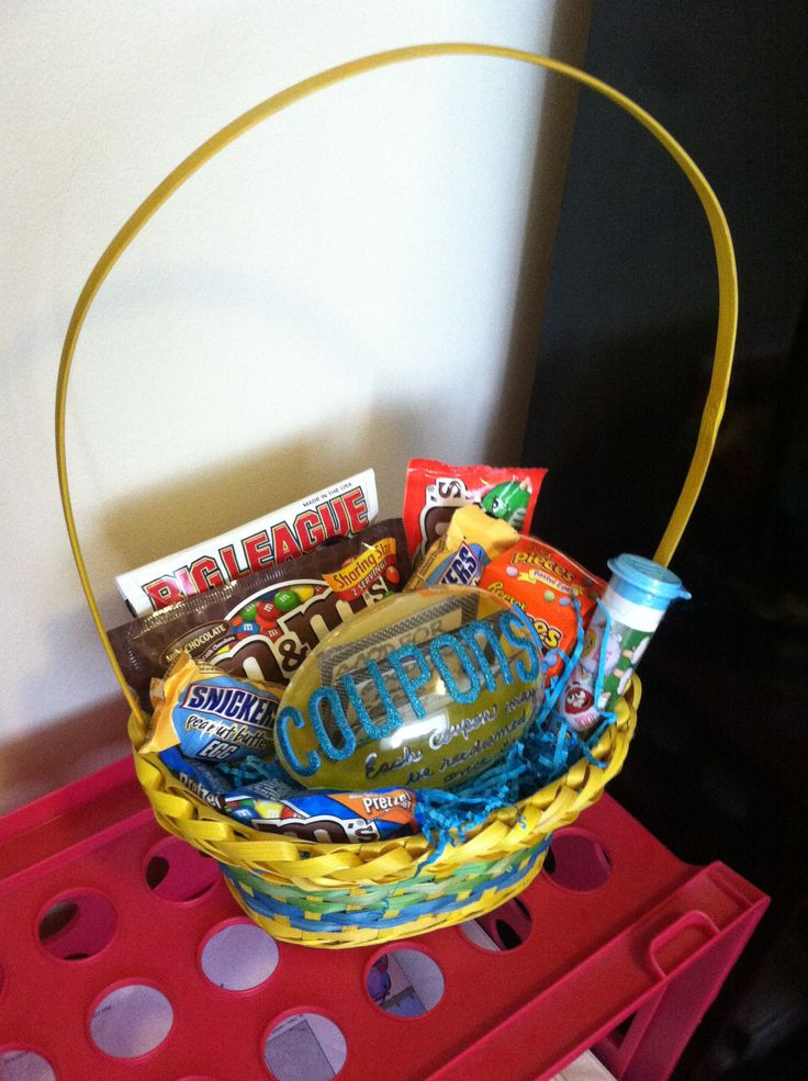 20 best holiday gifts images on pinterest easter party easter made my boyfriend an easter basket with candy a coupon egg inside negle Choice Image