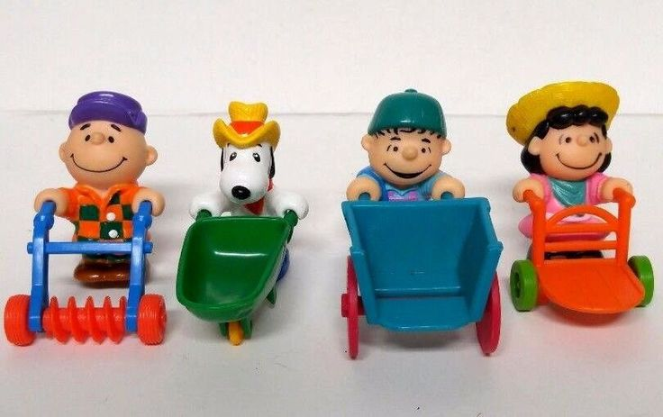 Vintage Charlie Brown Peanuts Toy Lot Figures Snoopy Lucy Linus Farmers 1989  #McDonalds