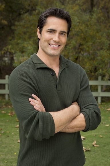 Victor Webster stars as Ben, a handsome ballplayer who is on the road when his dog Jake runs away, throwing him into an unexpected and very unusual custody dispute with a single mom who adopted him.  Photo:  Copyright 2012 Crown Media Holdings, Inc./Photographer Alexx Henry