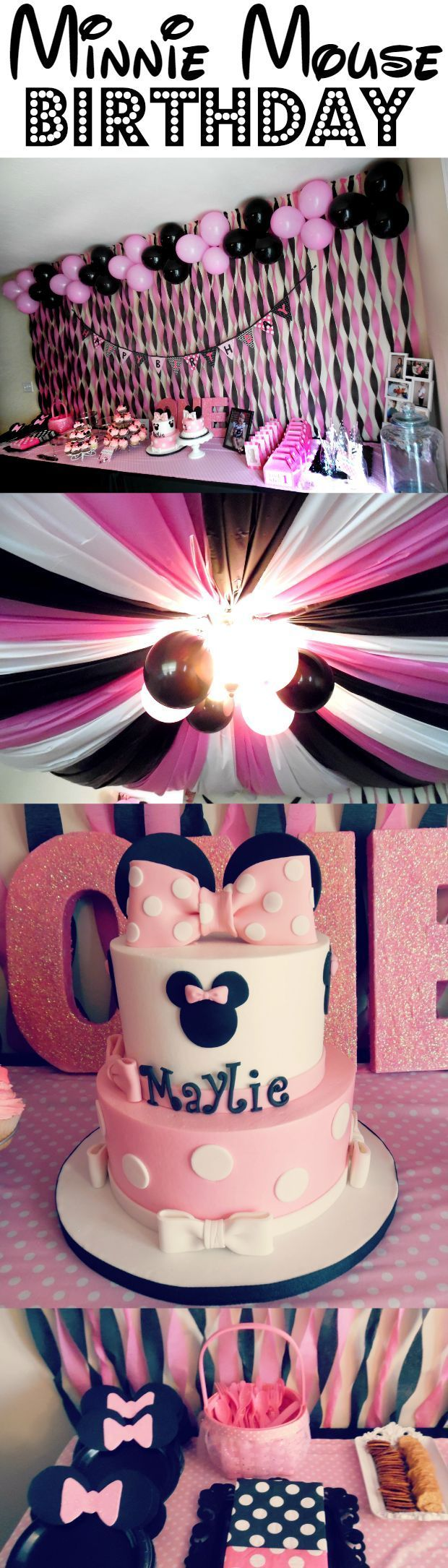 95 best party minnie mouse birthday ideas images on pinterest minnie mouse theme first birthday part girl ideas amipublicfo Choice Image