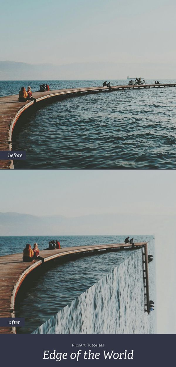 Ever wondered what the edge of the world would look like? This simple photo editing trick will show you how to turn your photos into beautiful surreal landscapes.