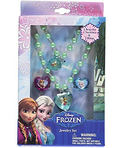 Disney Frozen Jewelry Box Set with Necklace Bracelet & Two Rings @ niftywarehouse.com