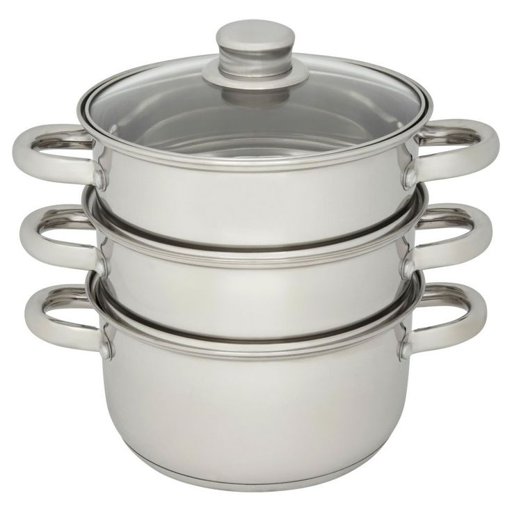 Wilko 3 Tier Steamer Stainless Steel 18cm at wilko.com