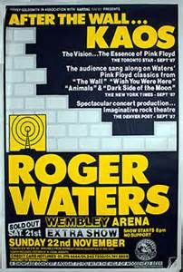 Roger Waters Radio Kaos Tour - Original UK Concert Poster