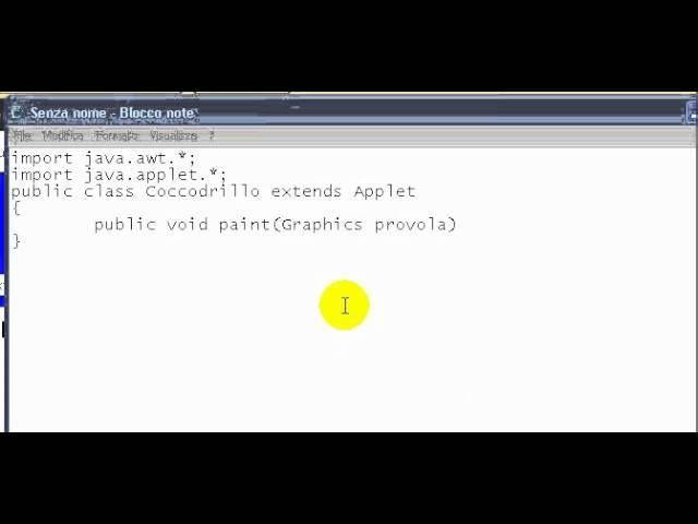 Tutorial 34 - Imparare Java - #Applet #Apprendere #Aspetto #Corso #Finestre #Grafica #Insegnamento #Insegnare #Istruzione #ITA #Italiano #Java #Lezione #Lezioni #N #Scuola #Tutorial #Video http://wp.me/p7r4xK-OG