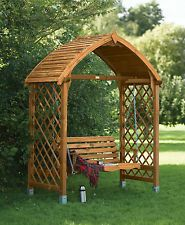 Древесина сад качели сиденье (предварительно окрашенные в мед-коричневый)
