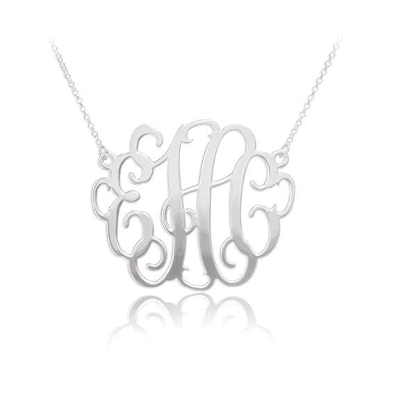 30% OFF Personalized Monogram Necklace in by SilverHandwriting