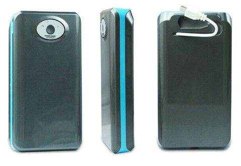 Power Bank : Large Capacity Power Bank 20000mAh with Built-in Cable