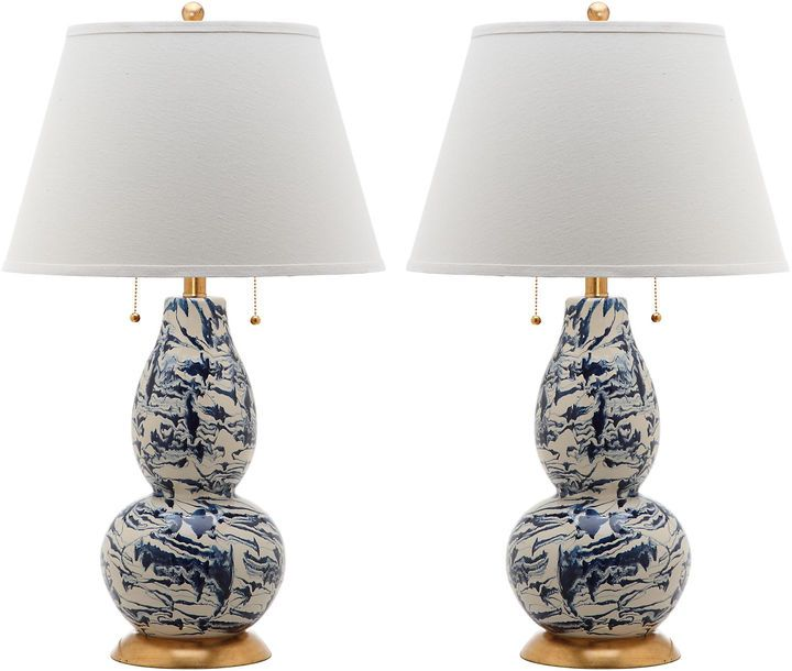 Safavieh Color Swirls Glass Table Lamp Set Of