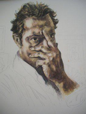 "Saatchi Online Artist Masri Hayssam; Painting, ""self portrait 2006"" #art"