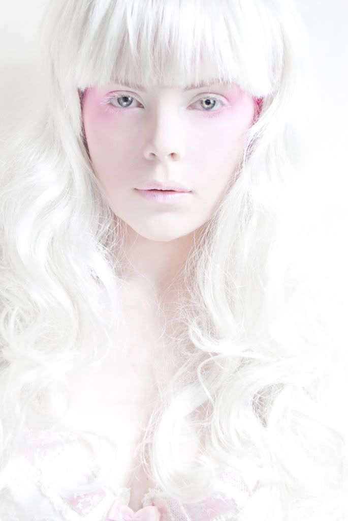 White and pink make up