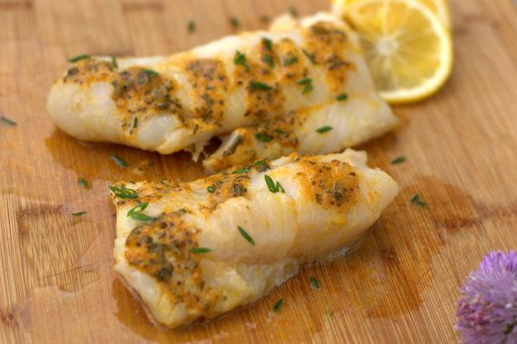 Team traeger roasted cod with meyer lemon herb butter for Herb cod recipe