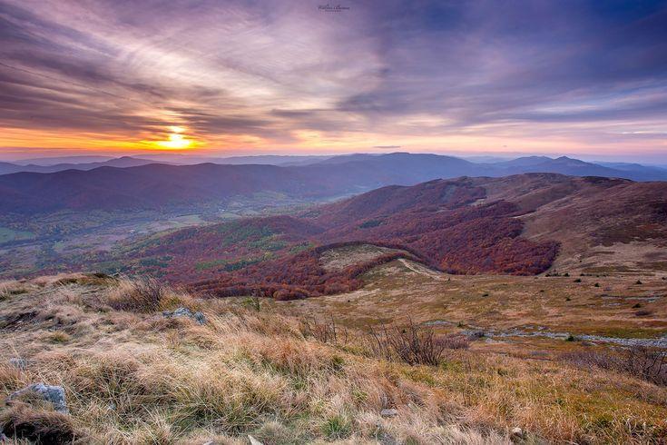 Zachód na Tarnicy Bieszczady