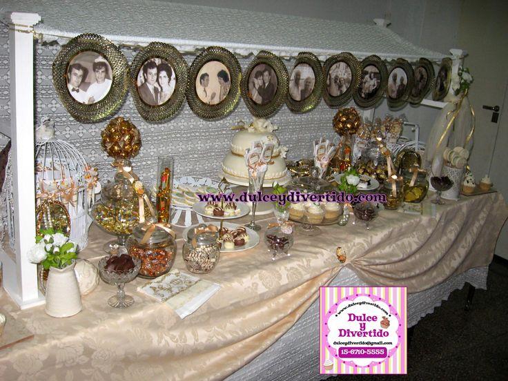 Mesa dulce bodas de oro ideas boda pinterest mesas y for Mesas de dulces para bodas precios