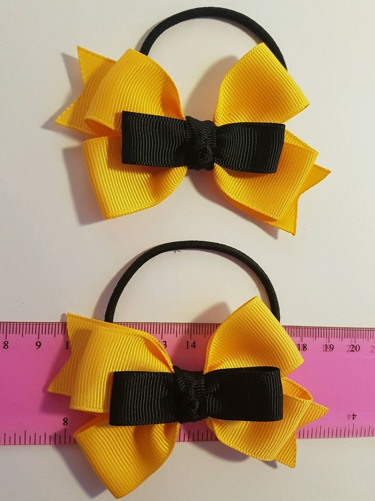 My inspired EMMA Wiggle Bows Girls hair ties/a set grosgrain ribbons - AU$6.00 a set
