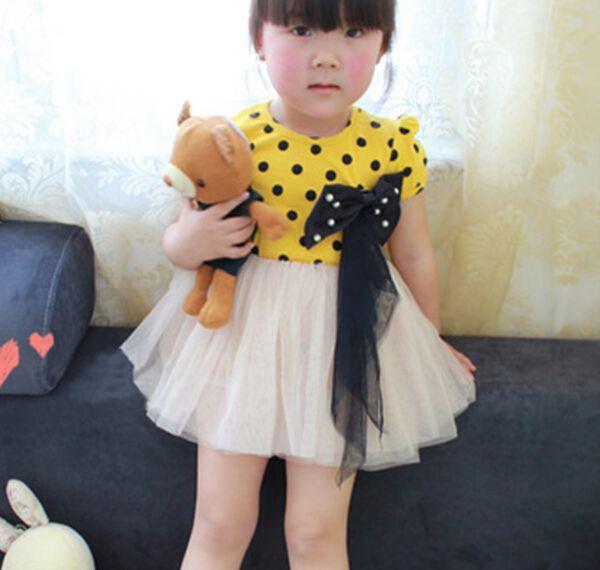 王女スタイルの女の子の服tc1065ポルカドット赤ちゃんのふくらんでいるドレス仕入れ、問屋、メーカー・生産工場・卸売会社一覧