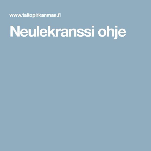 Neulekranssi ohje