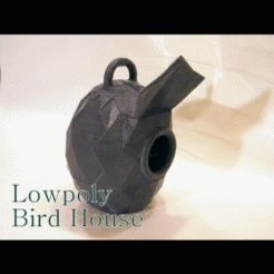 Lowpoly bird house