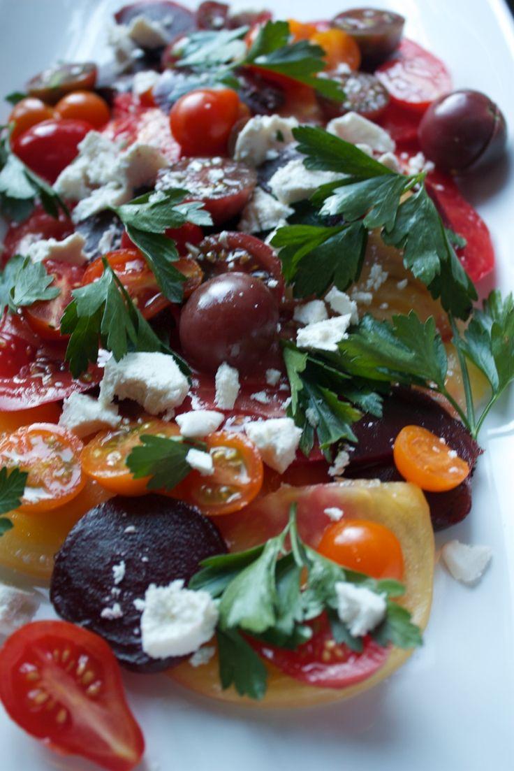 Roasted Beet, Heirloom Tomato Salad with Ricotta Salata   My Cooking Spot