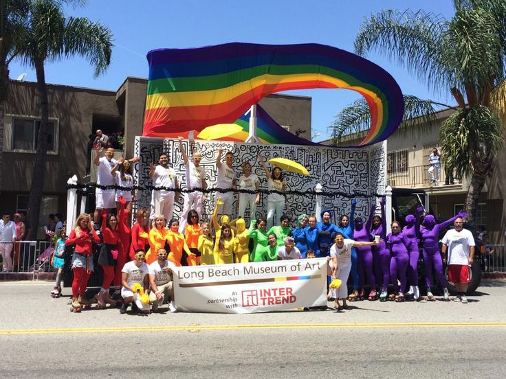 interTrend and the Long Beach Museum of Art at the 2014 Long Beach Pride Parade - Psychic Temple Long Beach