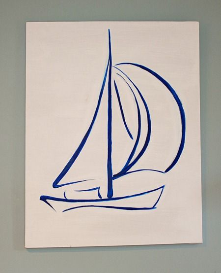 Sailboat I painted for him.