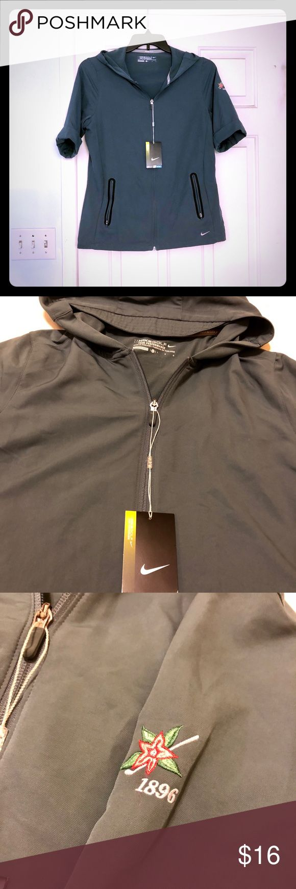 Nike golf jacket NWT Half sleeve Nike golf jacket with hood. Step up your game in this stylish jacket! Nike Jackets & Coats
