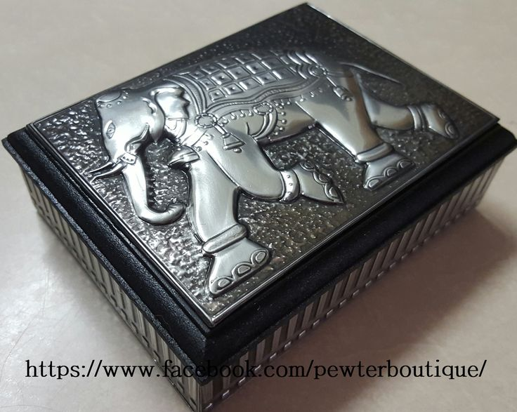 Commissioned Business Card Holder. Elephant with textured background.