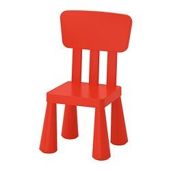 IKEA - MAMMUT, Children's chair, , Perfect for small children to sit at and play, draw, do crafts or set the table for a cozy picnic in the garden.The furniture is light but sturdy, and your child can carry them from room to room or out into the garden.Made from harmless plastic, the same material used in baby bottles, disposable diapers and food boxes.Also perfect for outdoor use since it is made to withstand rain, sun, snow and dirt.Easy to assemble – you just click the componen...