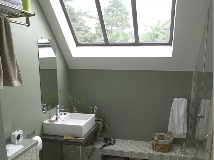 douche l 39 italienne sous pente de toit recherche google salle de bain pinterest. Black Bedroom Furniture Sets. Home Design Ideas