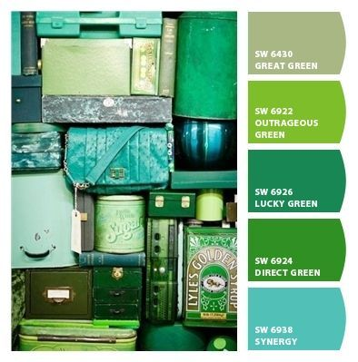greens and blues!