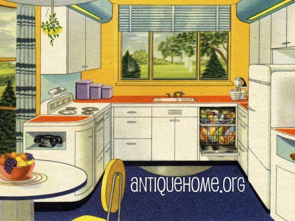 1942 Vintage Kitchen Design | Vintage Kitchen, Kitchens And 1940s Kitchen Part 64