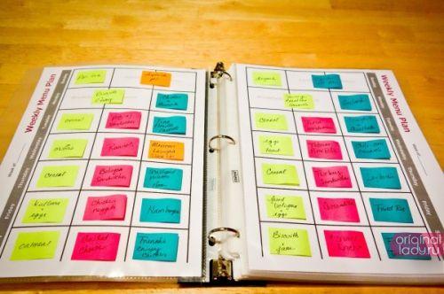 план меню на неделю для семьи
