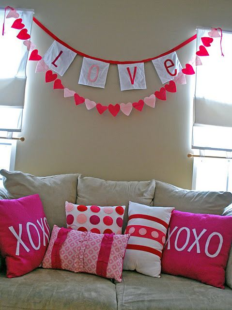 I really like this! This site has a bunch of cute Valentine's Day decor ideas!