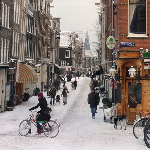 Winter in Amsterdam, Netherlands