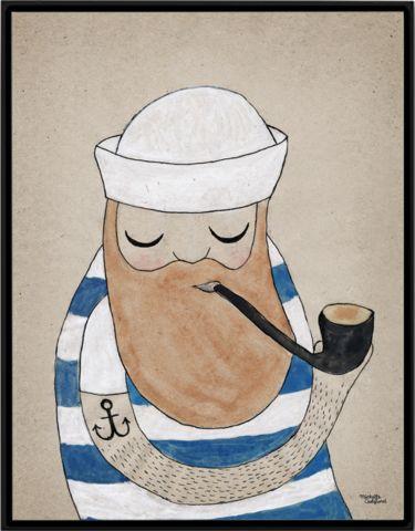 Sailor poster - Michelle Carlslund Illustration