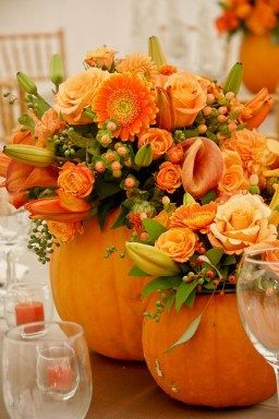 Fall Pumpkin Floral Arrangement