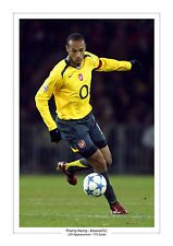 THIERRY HENRY  A4 PRINT PHOTO CAREER STATS ARSENAL  GIFT FOR HIM FRANCE