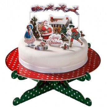Jolly Holly Christmas Cake Toppers