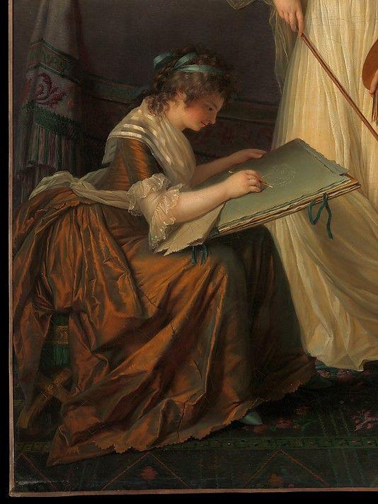 Marie Victoire Lemoine, 1754-1820 Detail, The Interior of an Atelier of a Woman Painter Metropolitan Museum of Art