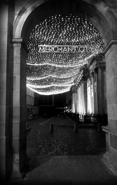 Merchant City in Glasgow at night #glasgow