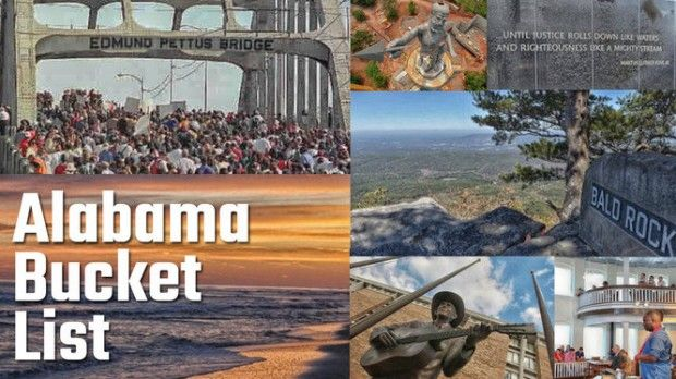 Alabama Bucket List. From history to sports to the arts to natural beauty, Alabama has it all.