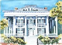It's always a treat to paint an historic building.  This is the Bellamy Mansion in Wilmington, North Carolina. Purchased by a beautiful young lady who was married there.