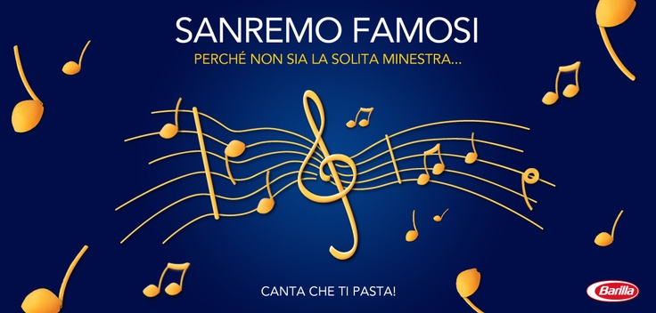 Sanremo #Barilla! http://www.facebook.com/Barilla