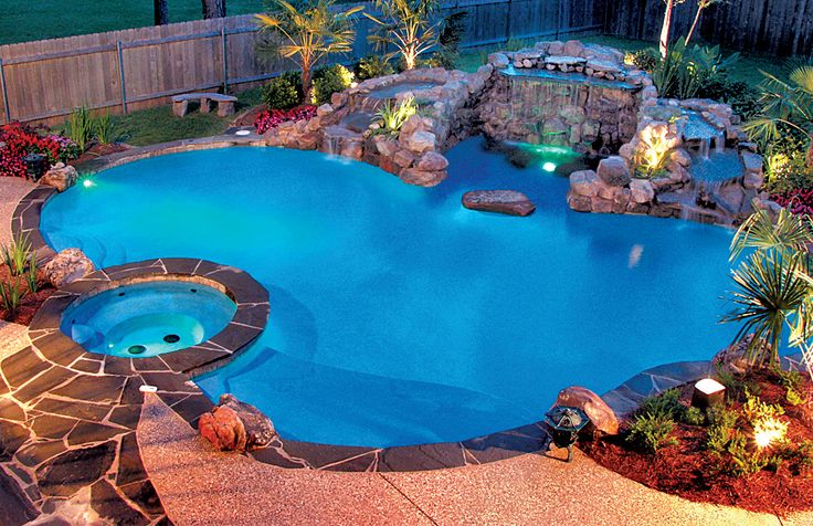 Pool LED lighting by Blue Haven Pools.