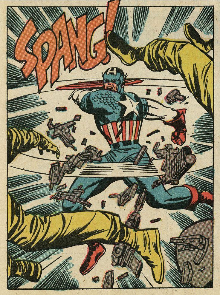 "cantstopthinkingcomics: ""Captain America by Jack Kirby """
