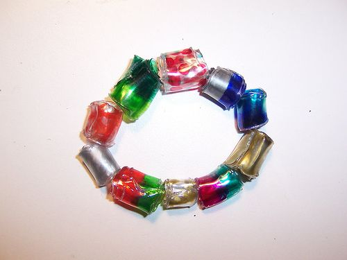 Make Beads from Recycled Soda Bottle