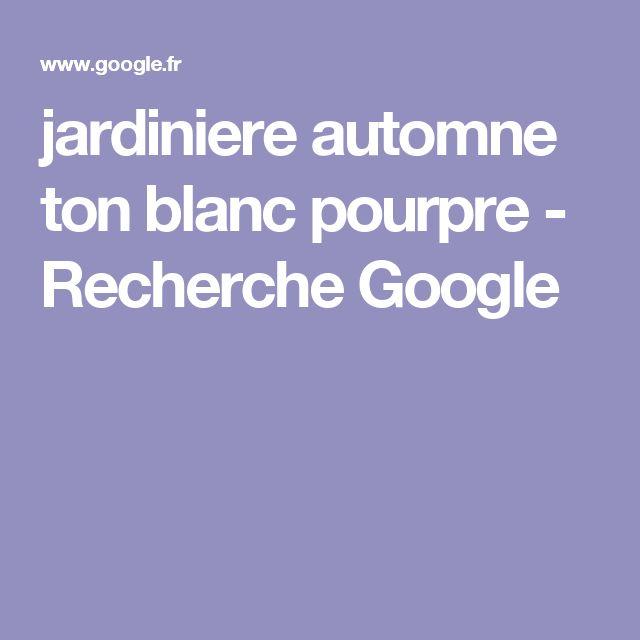 jardiniere automne ton blanc pourpre - Recherche Google