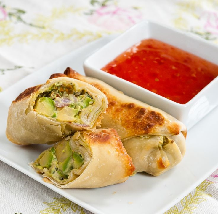 Baked Avocado Egg Rolls